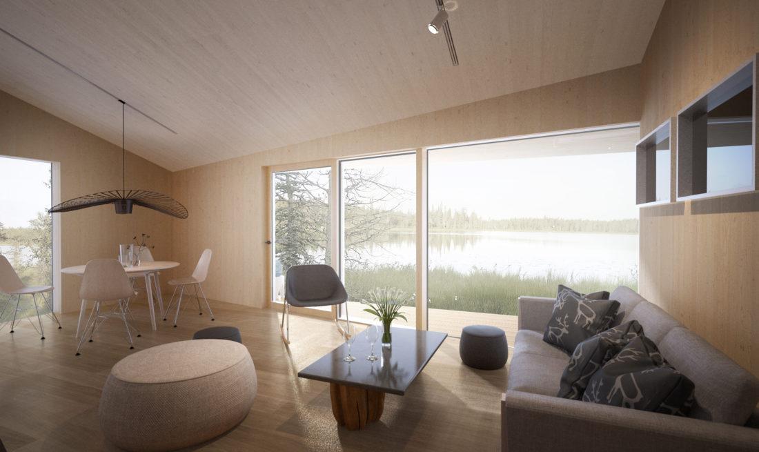 interior view, livingroom, render